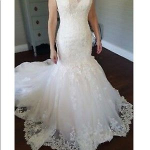"Blush over ivory ""Marianne"" maggie Sottero gown"